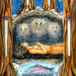 High Priestess Tarot – The Four of Swords by Kathryn Ravenwood