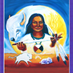 White Buffalo Calf Woman and Sacred Fire by Katherine Skaggs