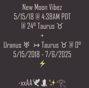 Taurean Vibez and Horoscopes for the Uranus Transit by Audrey Alison