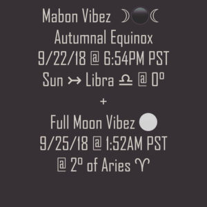 Autumn Equinox & Mabon Moon Horoscopes by Audrey Alison